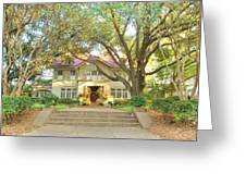 Swiss Avenue Historic Mansion Dallas Texas Greeting Card