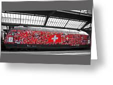 Swiss Train To Zurich Greeting Card