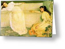 Symphony In White No 3 James Abbott Mcneill Whistler Greeting Card