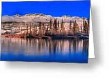 Talbot Lake Afternoon Panorama Greeting Card