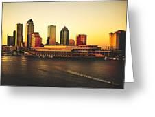 Tampa At Sunset Greeting Card