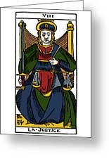 Tarot Card Justice Greeting Card
