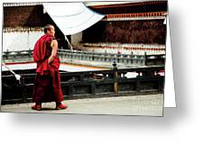 Tashilhunpo Monastery Shigatse Tibet Yantra.lv  Greeting Card