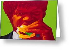 Tasty Burger Greeting Card