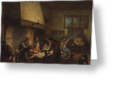Tavern Scene Greeting Card