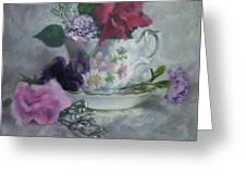 Teacup Rose Greeting Card