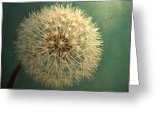 Teal Dandelion Greeting Card