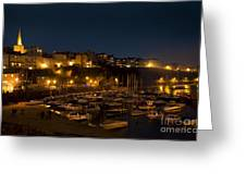 Tenby By Night Greeting Card