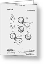 Tennis Ball Patent 1914 Greeting Card