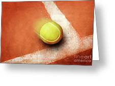 Tennis Point Greeting Card