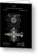 Tesla Generator Patent 1891 Greeting Card