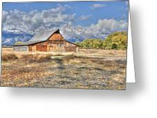 Teton Barn Greeting Card by David Armstrong