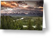 Teton Drama Greeting Card