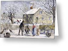 Thanksgiving, 1882 Greeting Card