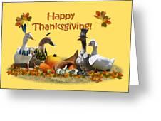 Thanksgiving Ducks Greeting Card