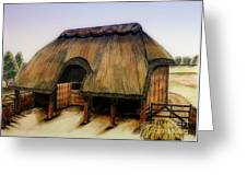 Thatched Barn Of Old Greeting Card