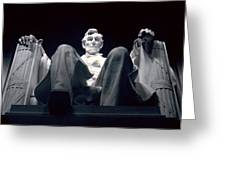 The Abraham Lincoln Statue Greeting Card by Rex A. Stucky