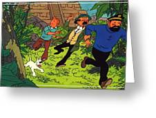 The Adventures Of Tintin Greeting Card