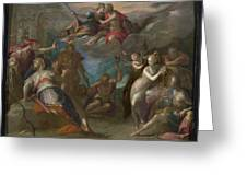 The Amazement Of The Gods Greeting Card