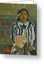 The Ancestors Of Tehamana Greeting Card