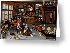 The Archdukes Albert And Isabella Visiting A Collector's Cabinet Greeting Card