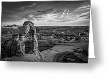 The Archway Bw Greeting Card