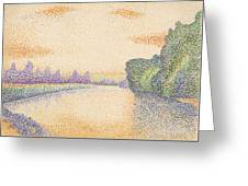 The Banks Of The Marne At Dawn Greeting Card