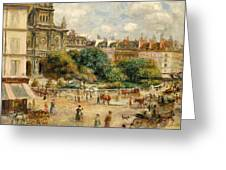 The Banks Of The Seine At Bougival Greeting Card