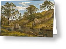 The Bath Of Diana. Van Diemen's Land Greeting Card