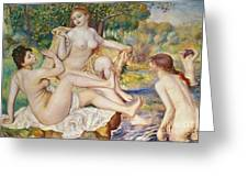 The Bathers Greeting Card by Pierre Auguste Renoir