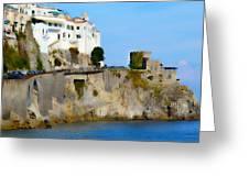 The Beach At Amalfi Greeting Card