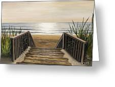 The Beach Greeting Card by Toni  Thorne