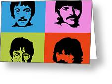 The Beatles Colors Greeting Card