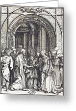The Betrothal Of The Virgin Greeting Card