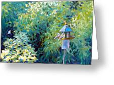 The Bird Feeder Greeting Card
