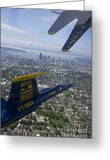 The Blue Angels Over Seattle Greeting Card