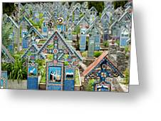 The Blue Cemetery Greeting Card