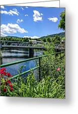 The Bridges At Shelbourne Falls Greeting Card