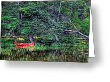 The Canoe Greeting Card