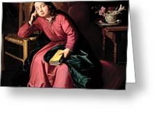 The Child Virgin Asleep Greeting Card