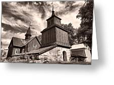The Church Of Fagervik Greeting Card