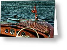 The Classic 1958 Chris Craft Greeting Card