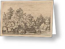 The Cudgel Dam And Covered Bridge Greeting Card