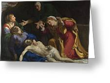 The Dead Christ Mourned The Three Maries Greeting Card