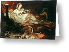 The Death Of Cleopatra Greeting Card