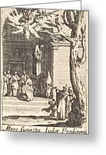The Death Of Judas Greeting Card