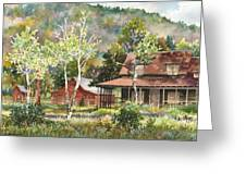 The Delonde Homestead At Caribou Ranch Greeting Card