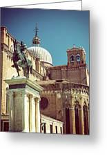 The Equestrian Statue Of Bartolomeo Colleoni In Venice Greeting Card
