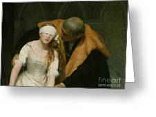 The Execution Of Lady Jane Grey Greeting Card