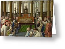 The Exhumation Of Saint Hubert Greeting Card
